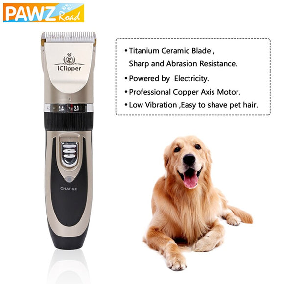 PAWZ Road Pet Rechargeable Electric Clipper Dog Cat Hair Trimmer Puppy Hair Cutter Machine Professional Animal Dog Grooming Set