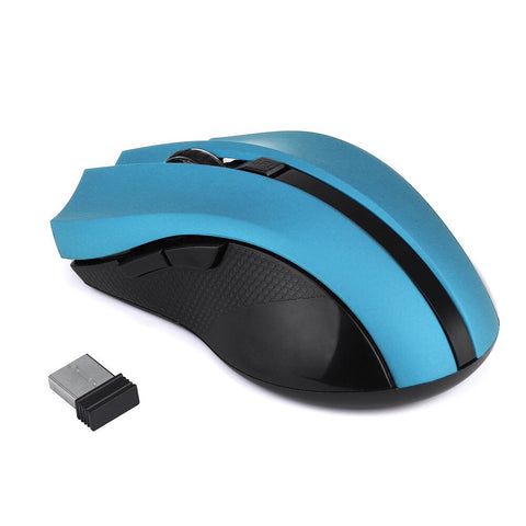 Wireless Mouse 2.4GHz Optical Silent Gaming Mice for Laptop PC Computer USB Receiver 20A Blue