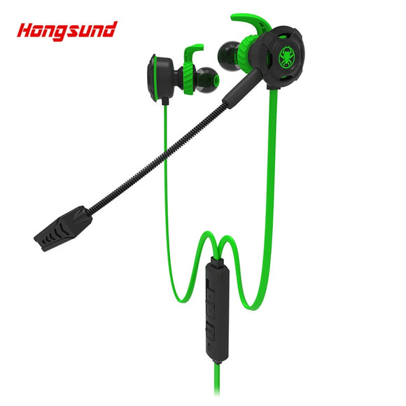Hongsund Plextone G30 gaming Earphone mobile phone for PS4/PSP/PC 3.5mm Wired Headset with Mic Noise game earphone