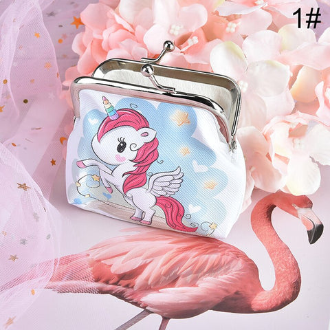 Women Flamingo Purse Change Coins Wallet Key Holder Pouch Handbag Zip Xmas Gift