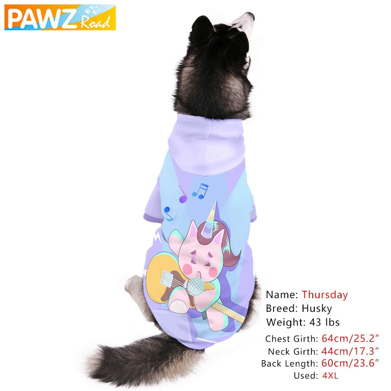 Dog Hoodie Unique 3d Printed Funny Fashion Cartoon Pet Dog Cat Sweatshirt Soft Warm Small Medium Large Dog Clothes Party Costume