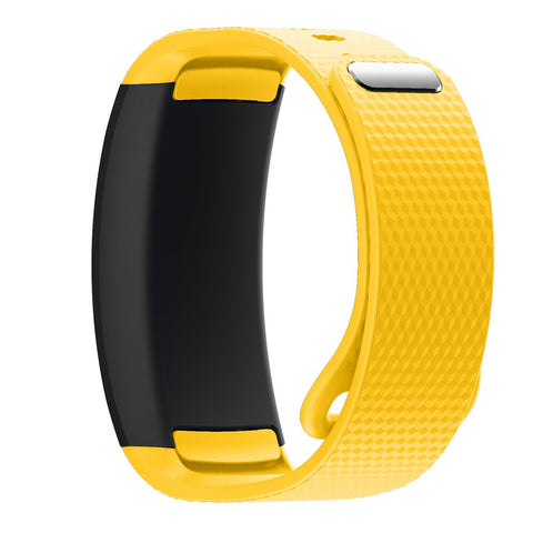 3D Pattern Silicone Watchband Sports Wrist Strap for Samsung Gear Fit2//Fit2 Pro