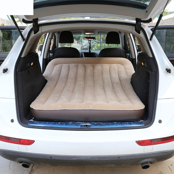 Car Travel Bed Camping Car Bed Car Mattress Inflatable Bed Flocking Air Mattress With Pump        SUV Universal Rear Compartment