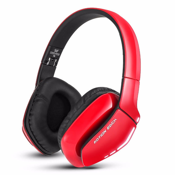 KOTION EACH B3506 Noise Isolation Bluetooth 4.1 Stereo gaming Headphone Foldable Wireless Music Headset with Mic 3.5mm for Phone