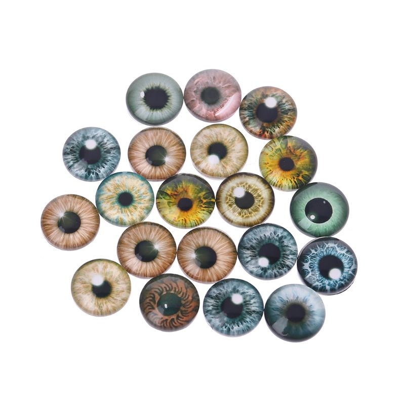 11 mm Brown Doll Making Craft Eyes Acrylic Doll Eyeballs 12Pcs  UK SELLER