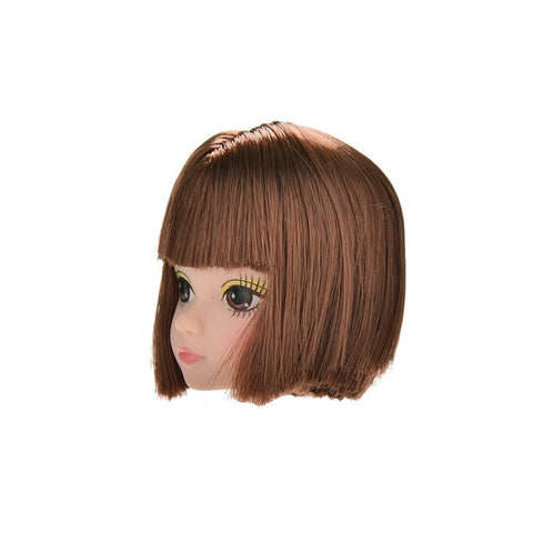 1Pcs Doll Head with Flaxen Long Hair DIY Accessories For  Doll Baby To P*CA