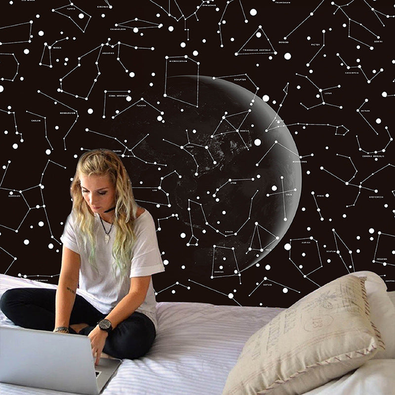 Galaxy Moon SKY Art Planet Tapestry Hanging Wall Hippie Retro Home Decor Yoga Beach Towel