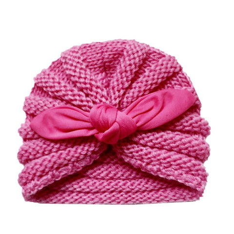Fashion Dome Hats Knitting Hat Beanies Pearls Turban Cap Baby Caps Head Cover