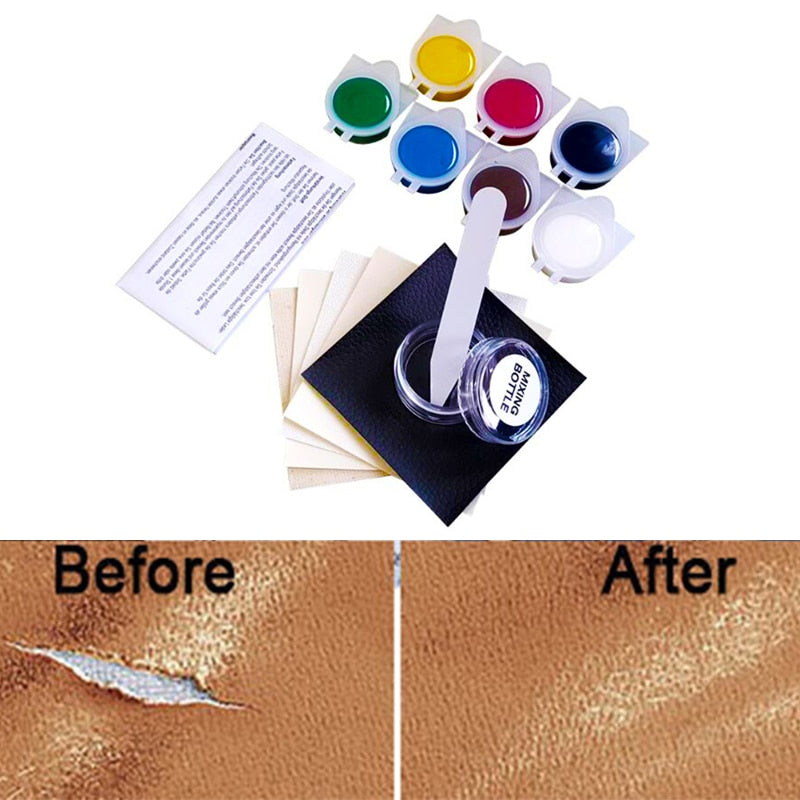 HOYOO Liquid Skin Leather Repair Kit No Heat Leather Repair Tool Auto Car Seat Sofa Coats Holes Scratch Cracks Rips