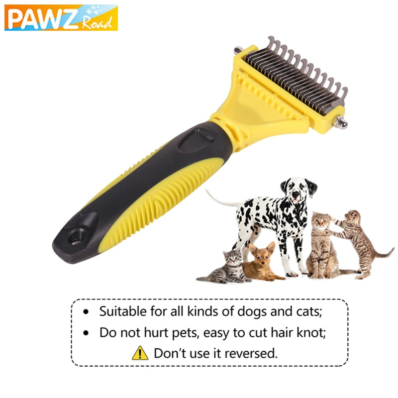 Dog Brush Comb Professional Double-sided Open Knot Massage Rake Cat Dog Long&Short Hair Shedding Hair Remover Pet Grooming Tool