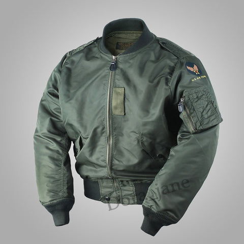 USAF Mens Polit MA1 Flight Jacket Military Fall Cotton Coat Outwear Tops Cotton