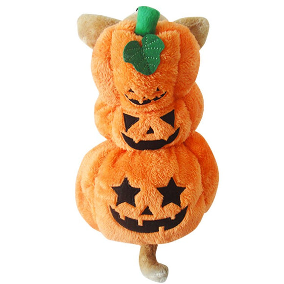 Halloween Pumpkin Style Solid Pet Costume Dog Coat Cat Jacket Pet Coat Pet Dog Clothes Dog Costume Apparel For Winter Autumn