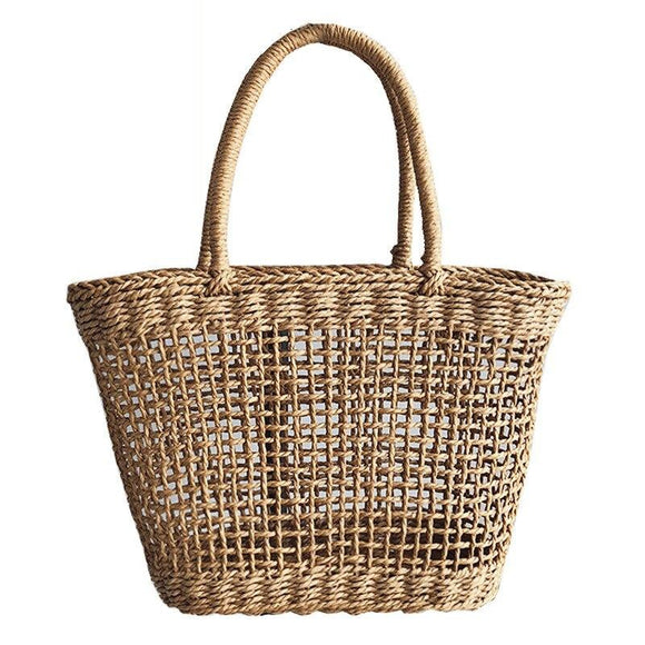 Women's handbags 2019 pure hand-woven vine grass hollow beach bag beach holiday straw bag fashion new