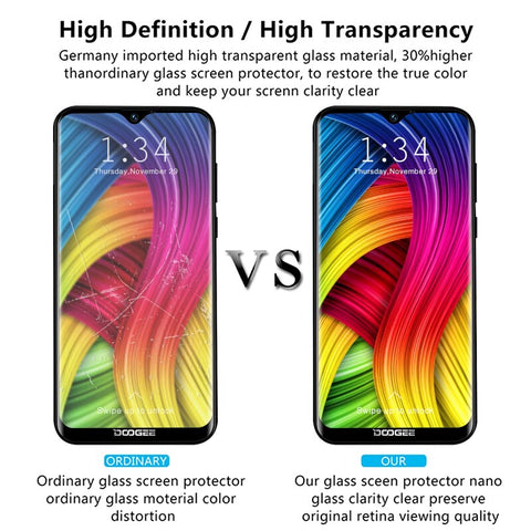 9h Protective Tempered Glass For Doogee Y8 X100 N10 X80 X70 X50