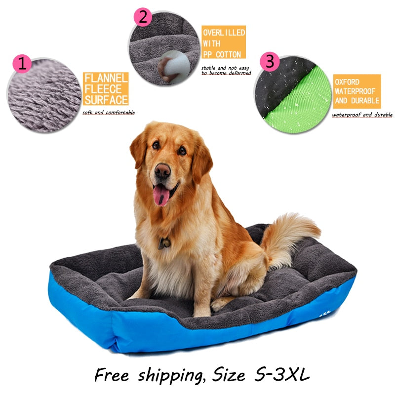 Dog Bed Winter Warm Soft Pet Dog Cat House Sofa Waterproof Breathable Oxford 4 Colors Size S-3XL For all Kind Dog Pet Product