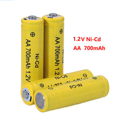 6pcs AA 700mAh 1.2V Ni-Cd Rechargeable Battery For RC Drone Car Toys Warranty