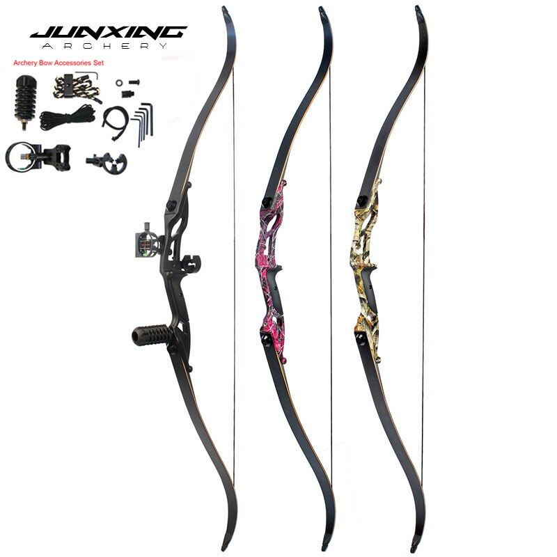 56 Inches American Hunting Bow 40-50lbs  Recurve Bow for Hunting Shooting Traditional Long Bow Archery Hunting Pratice
