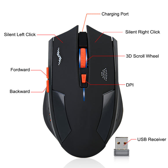 XPFF Gaming Mouse Wired programmable Mouse Adjustable DPI Ergonomic Design Variable Breathing Light Waterproof and Comfortable and Durable for Laptop PC7 Key