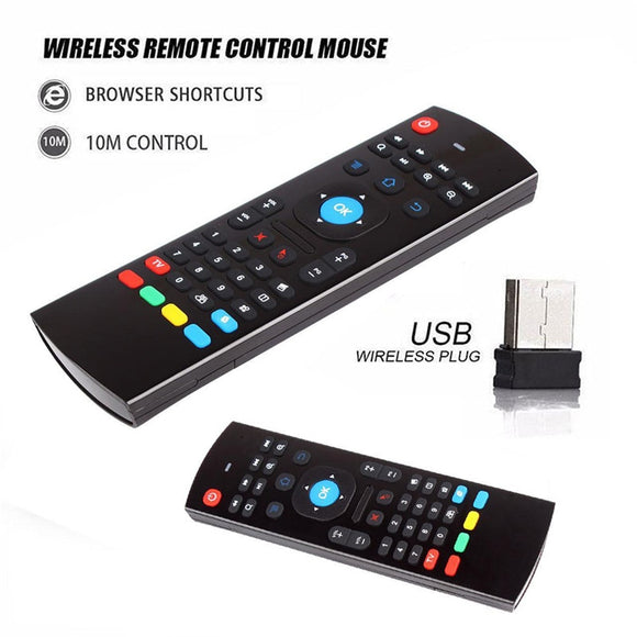 Calvas MX3 Air Mouse Colorful MX3 2.4G Wireless Keyboard MX3 Fly Air Mouse Backlight For Android TV Box//Computer//Projector For X96