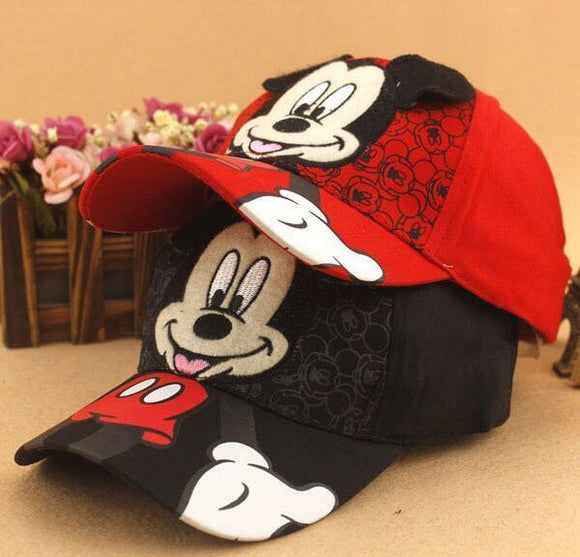 New Lovely Baseball Cap Kids Baby Boys Girls Hip Hop Caps Fashion Cartoon Mickey Minnie Children Snapback Hat Bone Masculino