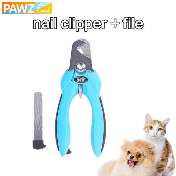 PAWZ Road Pet Nail Clipper Adjustable Stainless Steel Nail Scissors For Dog Cat Professional Safety Claw Cutter Pet Grooming