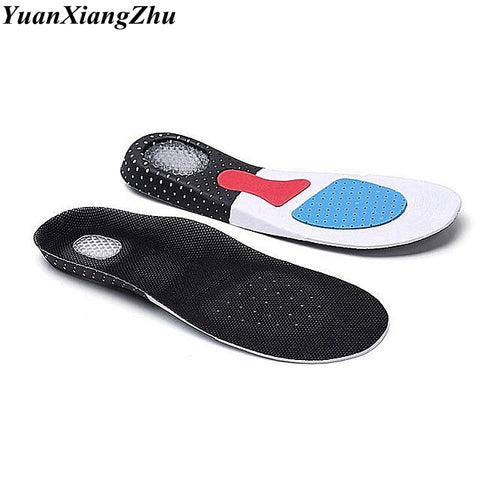 1 Pair Unisex EVA Spring Shock Absorption Sports Shoes Insoles Breathable Soft