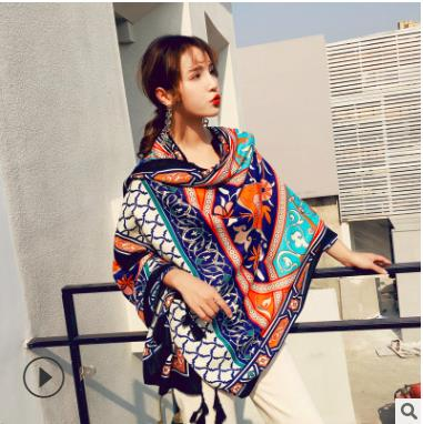 Scarf Spring Shawl New Summer Style Moroccan Style Print Vintage Floral Women