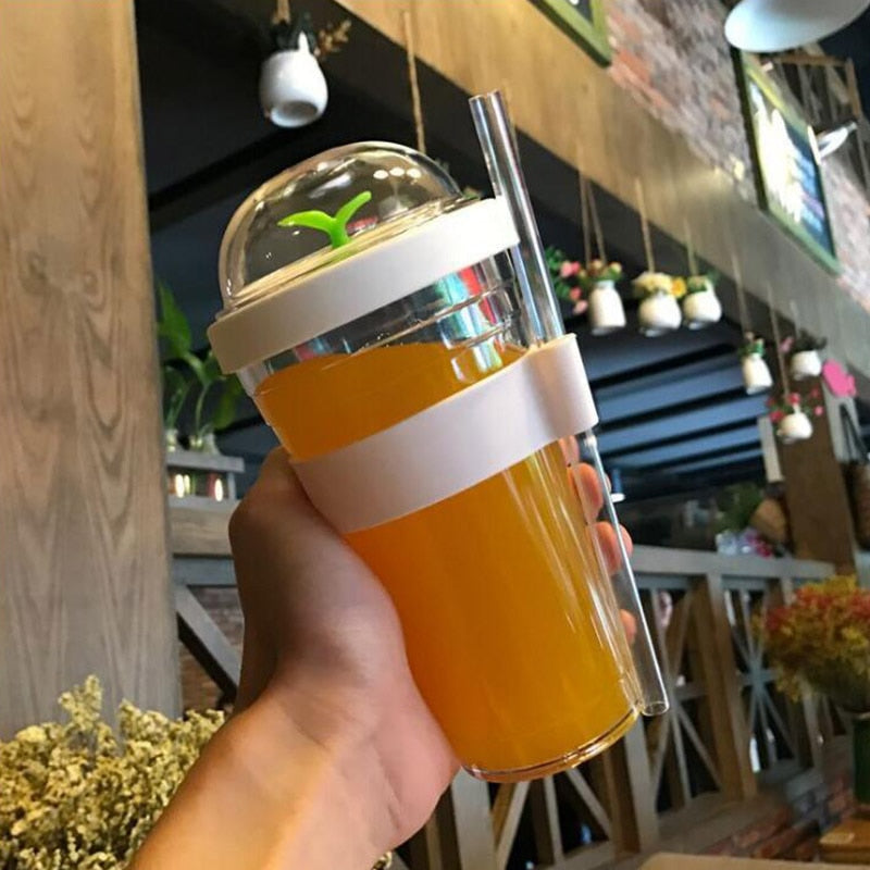 12oz 16oz bubble tea tumbler Portable plastic tumbler with straw reusable plastic cup for bubble tea boba tumbler