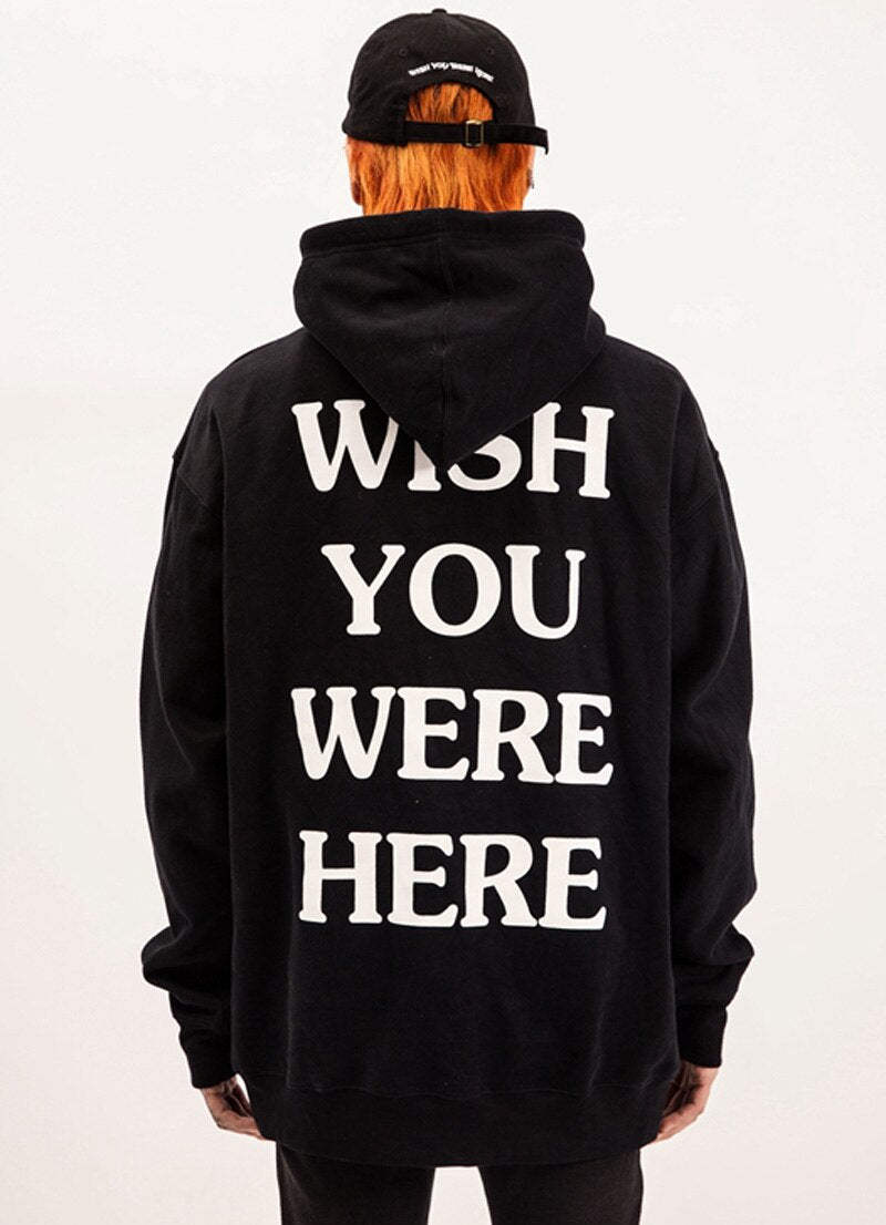 2019New embroidery Travis Scott Astroworld WISH YOU WERE HERE Unisex Pullover Hoodie and Sweatshirt
