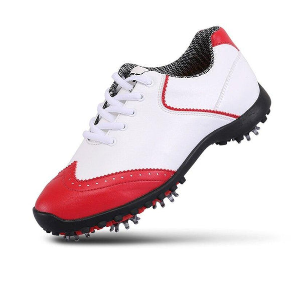 2020 Pgm Womens Golf Shoes Professional Women Breathable Lace Up Sports Shoes Slip Resistant Shoes With Spikes AA51023
