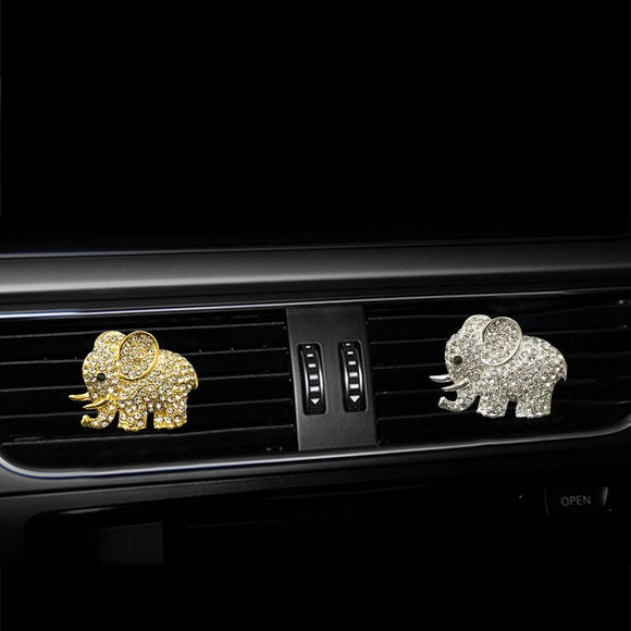 MR TEA Car Aromatherapy Essential Oil Diffuser Crystal Elephant Car Air Freshener Air Vent Clip Automobile Accessories