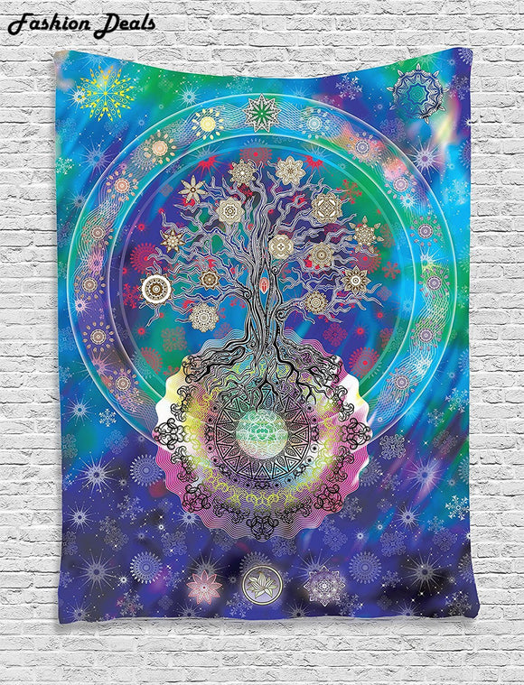 Fashion Bohemian National Wind Wall Hanging Tapestry Indian Mandala Tapestries Beach Towel Bedspread Home Room Wall Art Decor