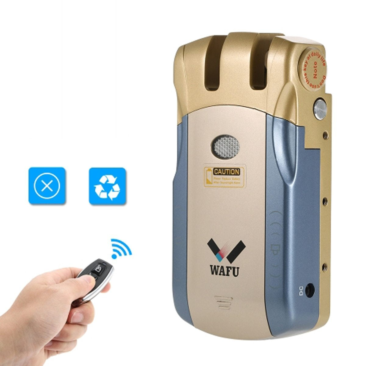 Remote Control Lock Wireless Anti-theft Smart Electronic Door Lock Automatically Intelligence