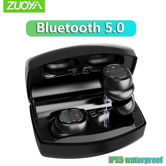 ZUOYA Bluetooth 5.0 TWS-8 Wireless Earphone Touch Control True Earbuds Bass Stereo 6D Headset With Charging Box  Mic Handsfree
