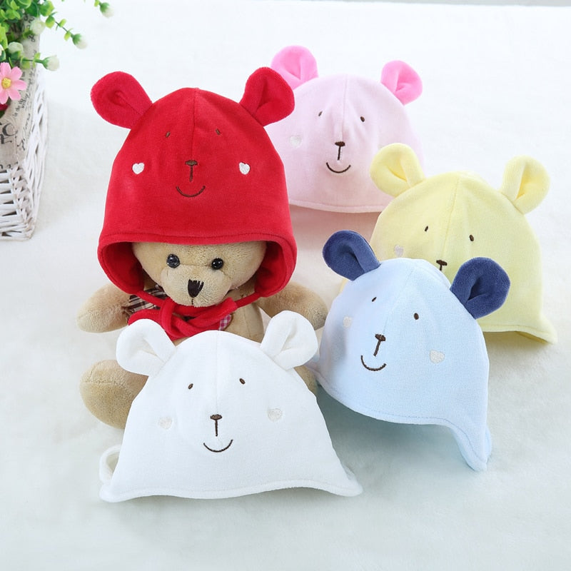 Baby clothes unisex baby hat baby newborn hood infant baby girls boys hat autumn winter with ball and cord 0-12 months