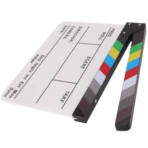 Director Video Scene Clapperboard Clapper Board Acrylic Dry Erase Director TV Movie Film Action Slate Clap Handmade Cut Prop