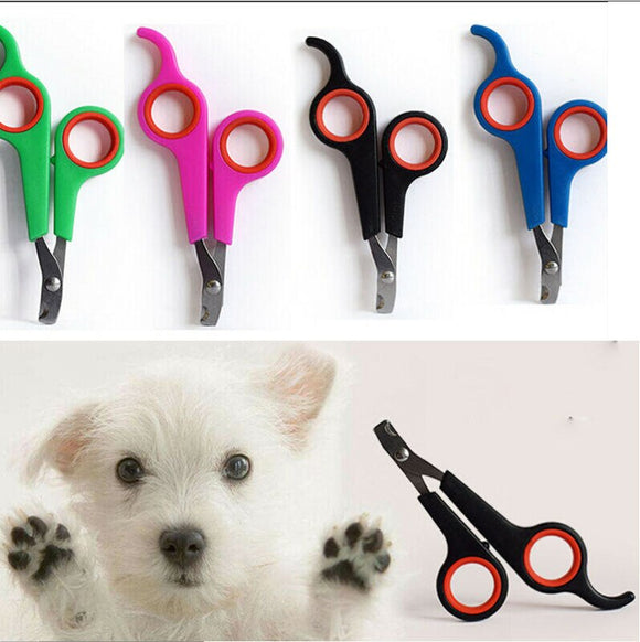 5 Colors optional Popular Pet Dog Cat Nail Toe Claw Clippers Scissors Trimmer Cutter Grooming Tool