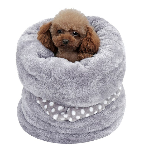 Pet Dog Cat Bed Super Soft Warm Double-sided Winter Pet House Durable Multi-functional Tunnel Cushion Pillow Pet Supply