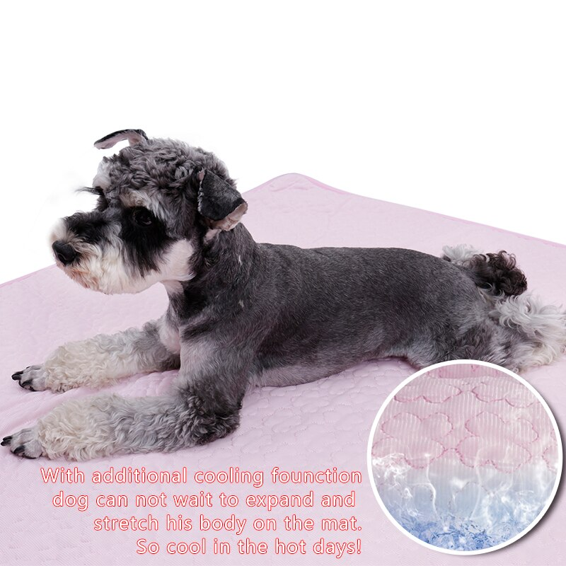 New Pet Blanket For Dog Cat Foldable Breathable double-sided available Cool 2 Colors Size S/M/L Available High Quality Pet Bed