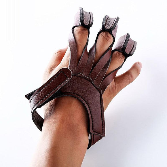 Cow Leather Finger Protection Guard Archery Compound Recurve Bow Protect Glove Outdoor  Hunting Shooting Accessories Darts