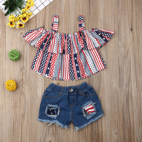 UK 3PCS Toddler Baby Girl Clothes Hooded Crop Tops Sweatpants Outfit Tracksuit