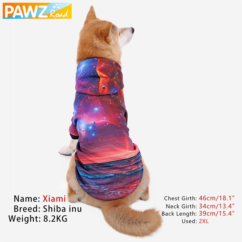 PAWZ Road Pet Sweatshirt Fashion 3d Universe Printed Design Soft Fall Winter Hoodie Cat Dog Small Medium Large Dog Pet Clothes