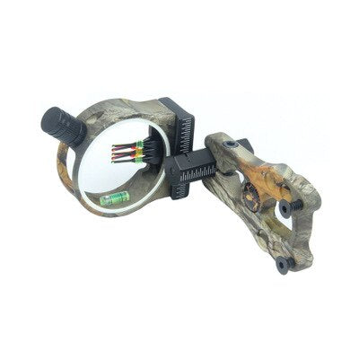 Adjustable Fibre Optic 5 Pin Archery Bow Sight with LED Sight Light for Compound Bow Aluminum Extreme Tactical Hunting Shooting