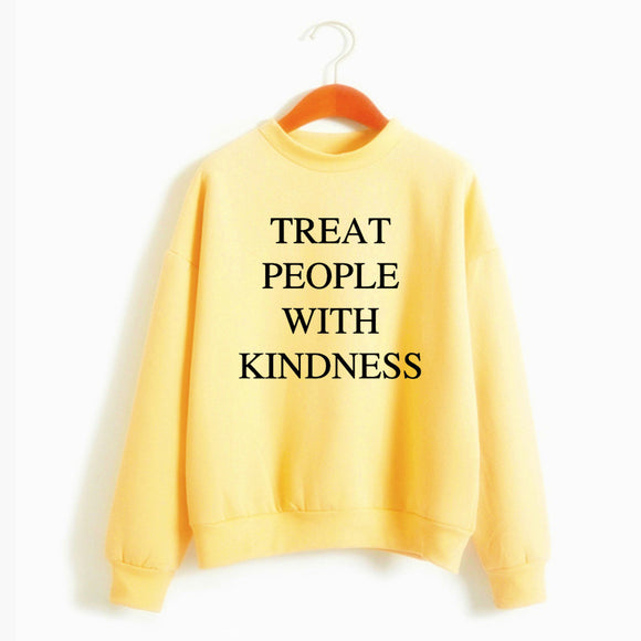 Harry Styles Treat People With Kindness Women'S Sweatshirt Casual Warm Pullover Hoodie Female Jumper Long Sleeve Autumn Winter