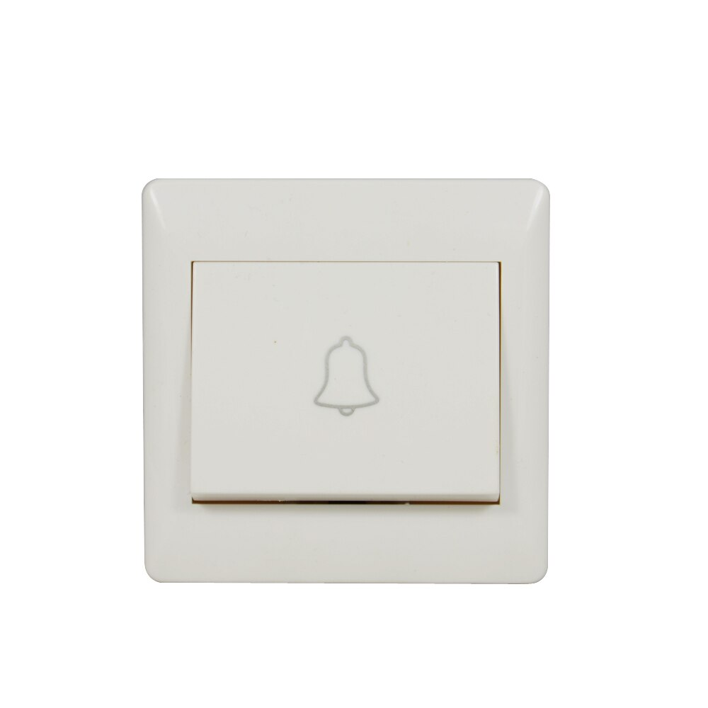 10 PCS Door Bell Button wired type 86mm wall mounted for house push to ring doorbell switch normally open signal