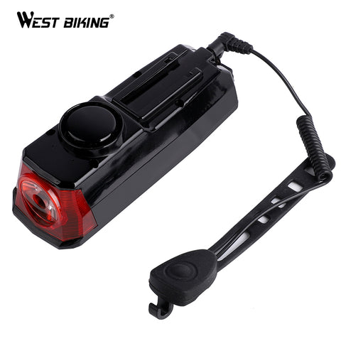 USB Rechargeable Bike Bicycle LED Headlamp Head Light Flashlight Bell Speaker MN