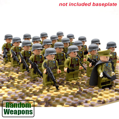 21pcs Military Soldiers US Britain France Italy Army For Lego Figure