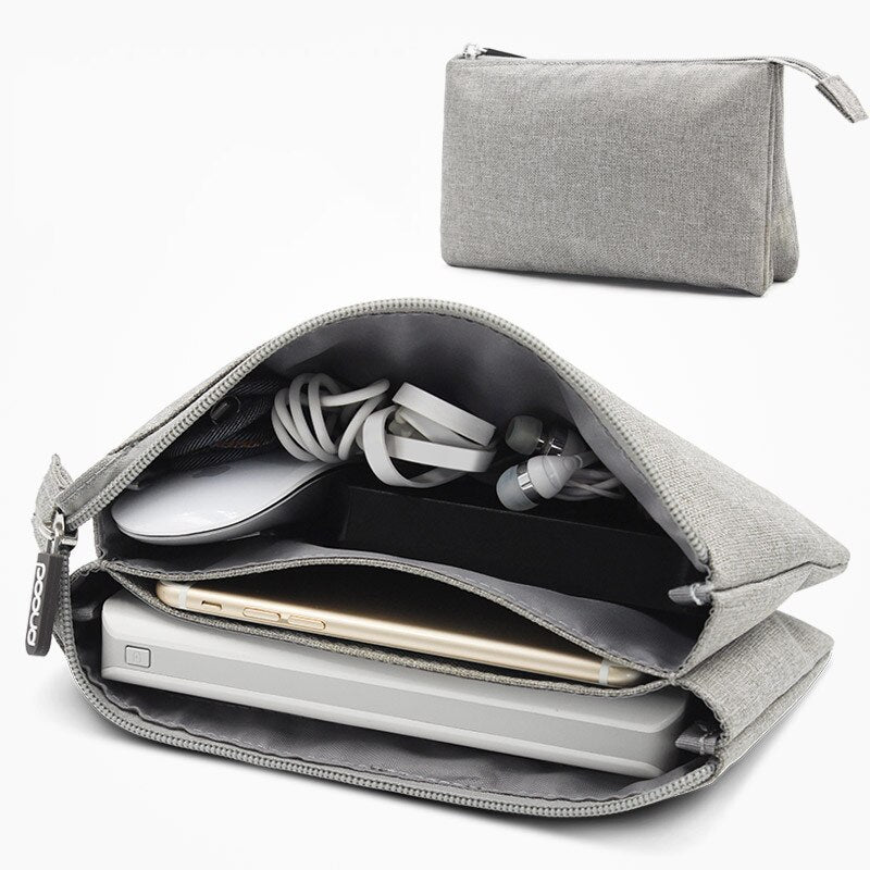 Travel Gadget Organizer Bag Portable Storage bag for Mobile hard disk data line Carrying Case Pouch for Electronics Accessories