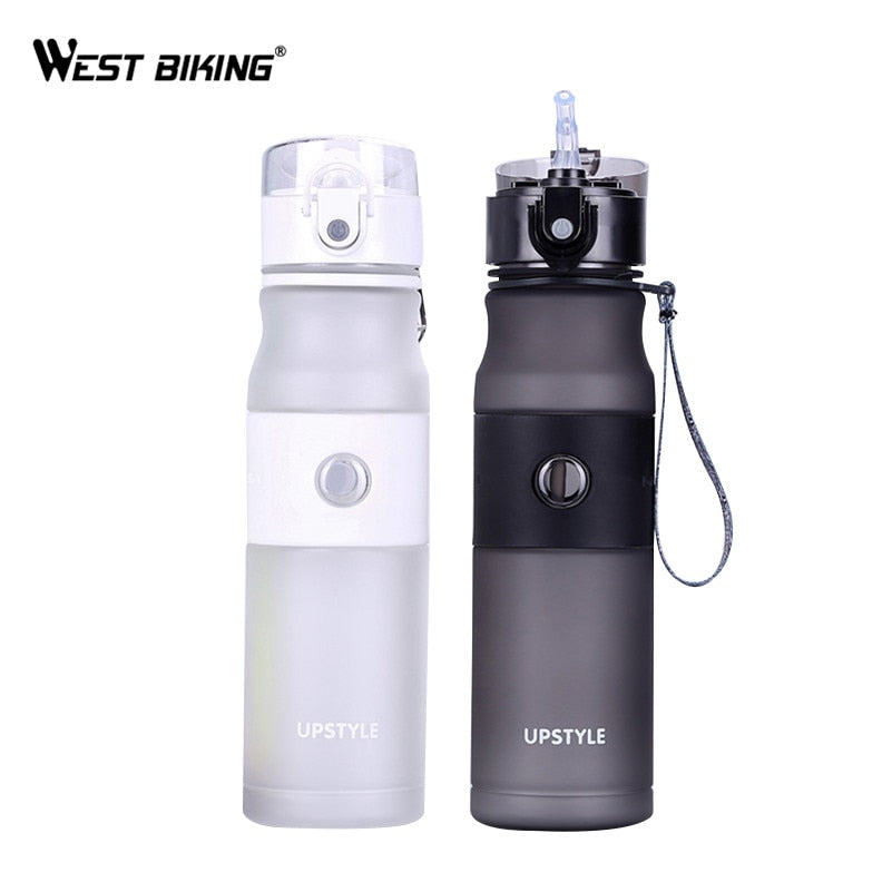 WEST BIKING 620ML Water Bottle Sport Drink Running Cycling Health Flip Lid Water Bottle Cap 5 Color Bicycle Water Bottles