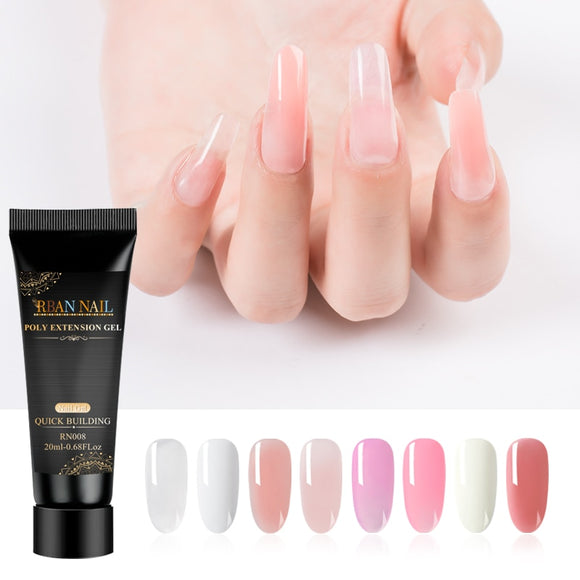 RBAN NAIL Poly Quick Building Extention UV Gel Nail Polish UV Gel Varnish For Nail Extension Quick Dry Nail Art Gel Lacquer